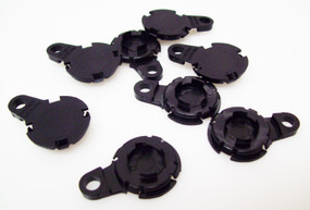 "100 1.25"" Versaback Plastic Only - No Zipper Pull - Black -FREE SHIPPING"