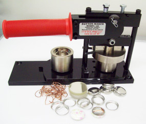 "1"" Tecre Button Making Kit  - Button Machine, and 1000 Pin Back Button Parts-FREE SHIPPING"
