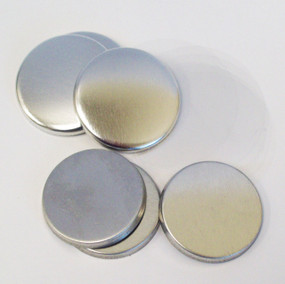 "1.25"" Tecre Metal FLAT Back Button Parts 1-1/4 Inch - 500"