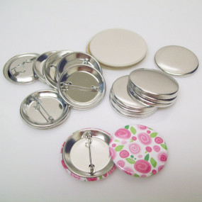 """1.50"""" Tecre Pin Back Complete Button Parts 1-1/2 Inch - 1000 pcs FREE SHIPPING"""