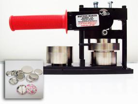 "1.50"" Tecre Button Making Kit - Machine, 100 Pin Back Button Parts 1-1/2 Inch-FREE SHIPPING"