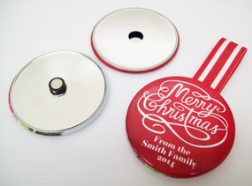 "3"" STD Ornament Button Parts 3 Inch - Makes 100 Ornaments"