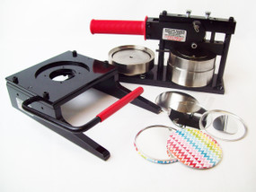 "3.5"" 3-1/2 Inch Button Making Kit - Tecre Button Maker Machine, Tecre Graphic Punch, 100 Mirror Parts"
