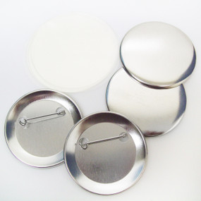 """BAM Size 3"""" Pin Back Button Parts for Button Making Machines - 100 pcs"""