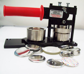 "1.75"" Tecre Button Making Kit 1-3/4 Inch  Machine + 1000 Pin Back Button Parts"