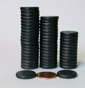 "50 PERFECT FIT BEVELED edge 3/4"" C8 Strong Ceramic Magnets Only  for 1 Inch Buttons"