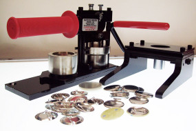 "1.50"" Tecre Button Making Kit - Machine, Graphic Punch, 100 Pin Back Button Parts 1-1/2 Inch-FREE SHIPPING"
