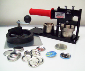 "1.5"" Tecre FABRIC Button Making Kit  - Machine, Fixed Rotary Circle Cutter, 250 Pin Back Button Parts-FREE SHIPPING"