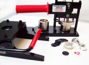 "Tecre Button Making Kit 1"" - Machine, Graphic Punch, 500 Plastic Flat Back Button Parts-FREE SHIPPING"