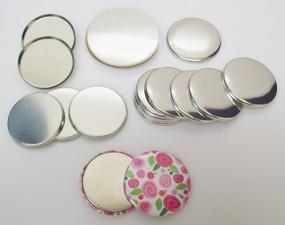 "1.50"" Tecre METAL FLAT BACK  Button Parts 1-1/2 Inch - 500 pcs-FREE SHIPPING"