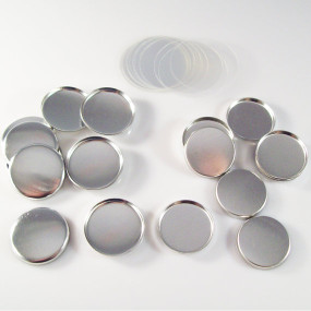 "1"" Tecre METAL FLAT BACK Button Parts - 500"