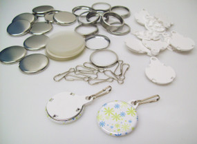 """1.25"""" Tecre White Complete Versa Back Button Parts 1-1/4 Inch - 100-FREE SHIPPING"""