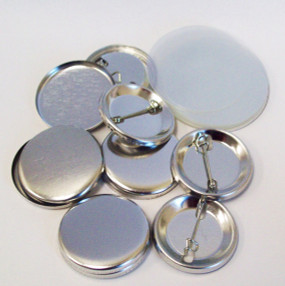 """1.25"""" Tecre Pin Back Button Parts 1-1/4 Inch - 5000 FREE SHIPPING"""
