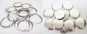 """Shells & Collets ONLY for 1-1/4 Inch ( 1.25"""" ) Tecre Buttons - 500 pcs"""
