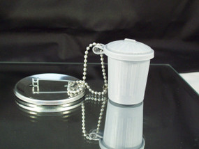 Trash Can Button Accessories - 100 pcs - Includes Trash Can and Ball Chain
