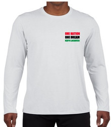 'KENYA LACROSSE' White Long Sleeve Performance T-Shirt