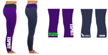 'ESPRIT' Reversible Leggings (Purple/Navy)