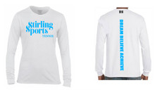 'STIRLING SPORTS' White Long Sleeve T Shirt Camp Range 2017 - 2018