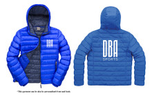 'DBA' Unisex Hooded Puffa Jacket