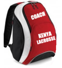 'KENYA LACROSSE' Personalised backpack