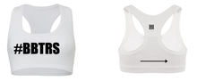 '#BBTRS' White Sports Bra