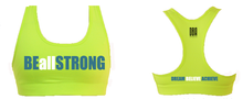 '#BBTRS' Neon Yellow Sports Bra