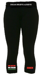 'KENYA LACROSSE' Black leggings