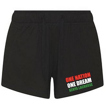 'KENYA LACROSSE' Black ladies shorts