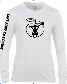 'LIFT ROW EAT GROW' Unisex white long sleeve