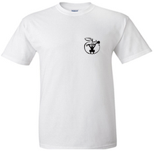 'LIFT ROW EAT GROW' Unisex White T-shirt Small Logo