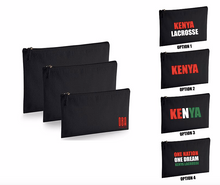 'KENYA LACROSSE' Medium travel pouch