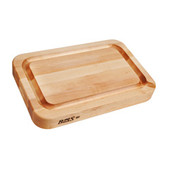 """John Boos Maple Cutting Board with Juice Groove & Pour Spout - 18""""x 12""""x 2-1/4"""""""