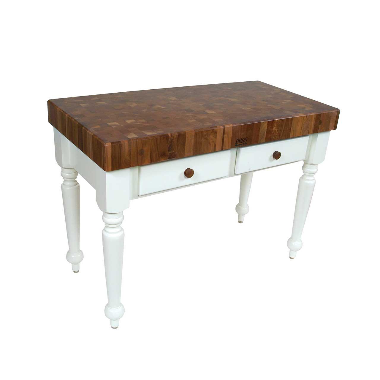 Kitchen Island 48 X 24 cuttingboards - john boos walnut rustica prep table, kitchen