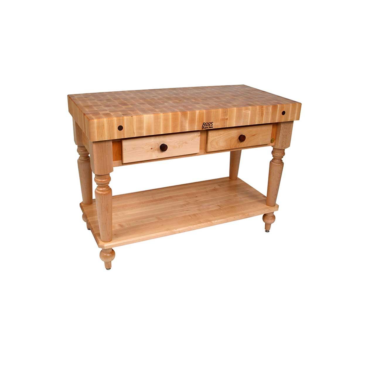 Kitchen Island 24 X 24 cuttingboards - john boos rustica kitchen island with shelf 48