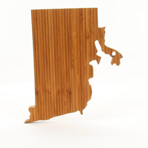 rhode island state shaped cutting boards a cut above the rest bamboo. Black Bedroom Furniture Sets. Home Design Ideas