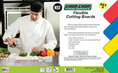 """Chop-Chop Food Service Color Coded Flexible Cutting Boards, Size 12"""" x 18"""", Pack of 4"""