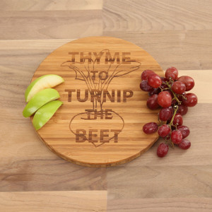 Thyme to Turnip the Beet - Round Cutting Board