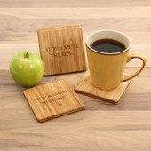 Stop & Smell the Rose' Coaster Set