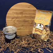 Personalized Round Bamboo Cheese Board Gift Set