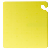 "San Jamar YELLOW Cut-N-Carry Cutting Board 12"" x 18"" x 1/2"""