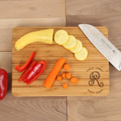 Rosemary Monogram Engraved Cutting Board