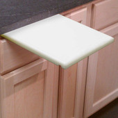 "1""  White Poly Under Counter Cutting Board"