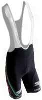 Gipiemme Black Bib Shorts Rear View