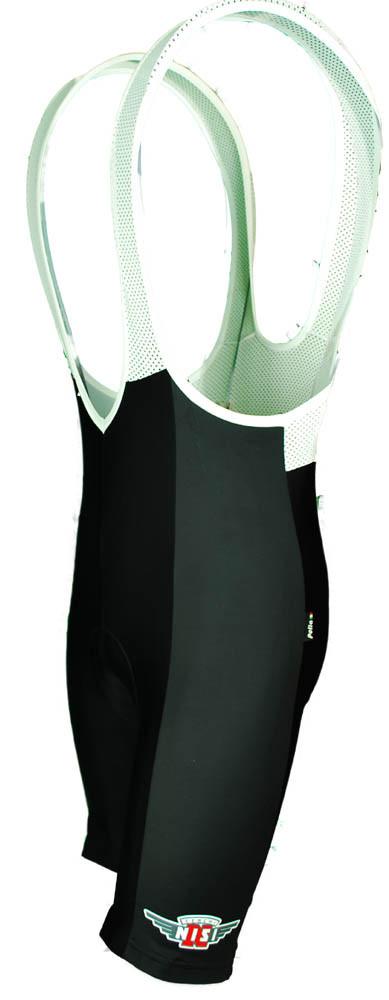 Cerchi Nisi Black Bib Shorts Front