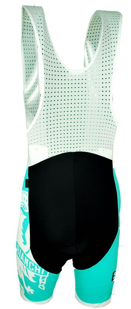 Bianchi Milano Tambre Green Black Bib Shorts Rear