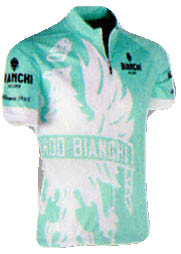 Bianchi Milano Cinca Green White Jersey Front View