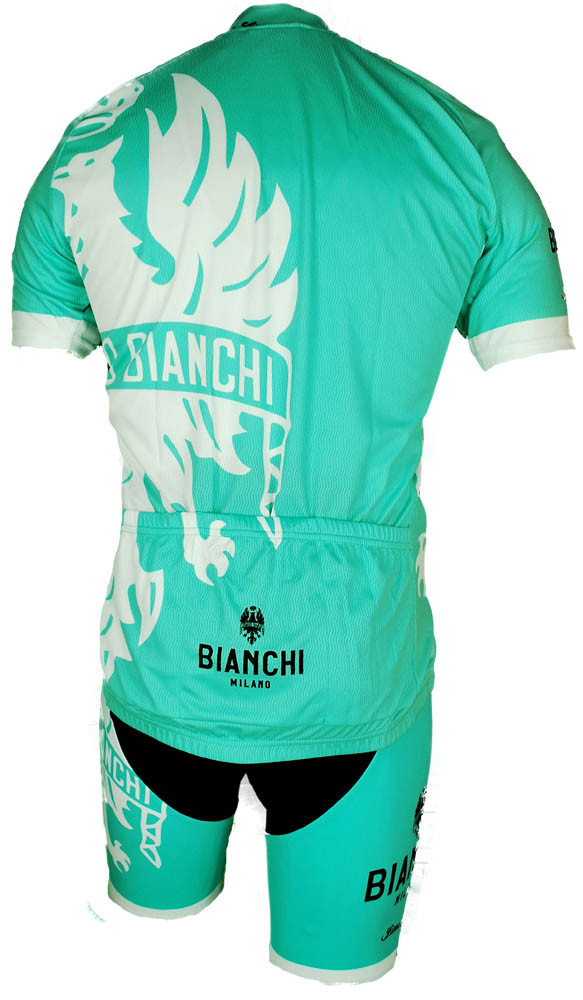 Bianchi Milano Cinca Green White Jersey Rear