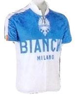 Bianchi Milano Nalon Blue White Jersey Front View