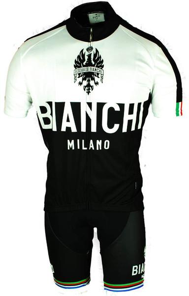 Bianchi Milano Nalon White Black Jersey Front