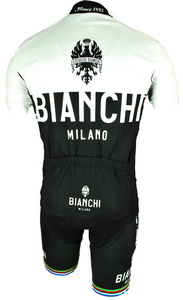 Bianchi Milano Nalon White Black Jersey Rear